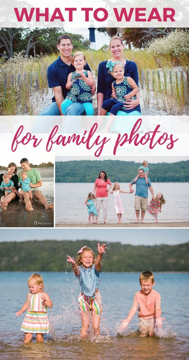 Wondering what to wear for family photos? These tips will help you choose the perfect family photo outfits!