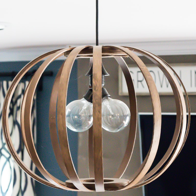 DIY wood ball lighting