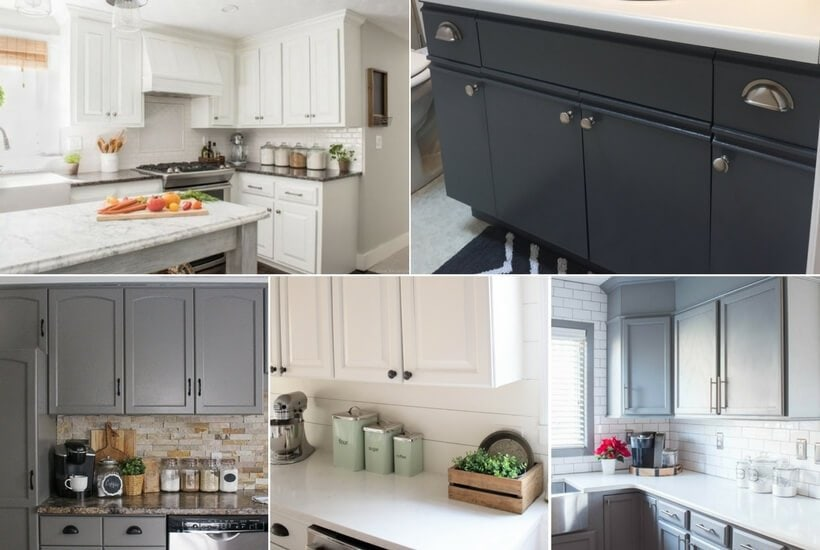 The BEST Paint for Kitchen Cabinets: 8 Cabinet Transformations | Designer Trapped