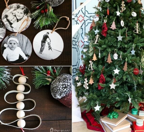 An Entire Tree Filled With DIY Christmas Ornaments