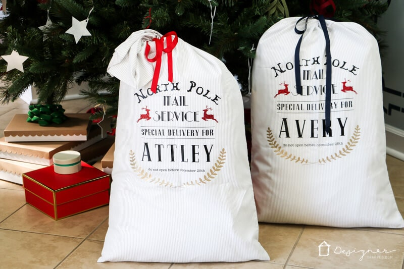 These DIY Santa sacks are sure to THRILL your children year after year! They are fun and easy to make yourself with this full Santa sack tutorial.