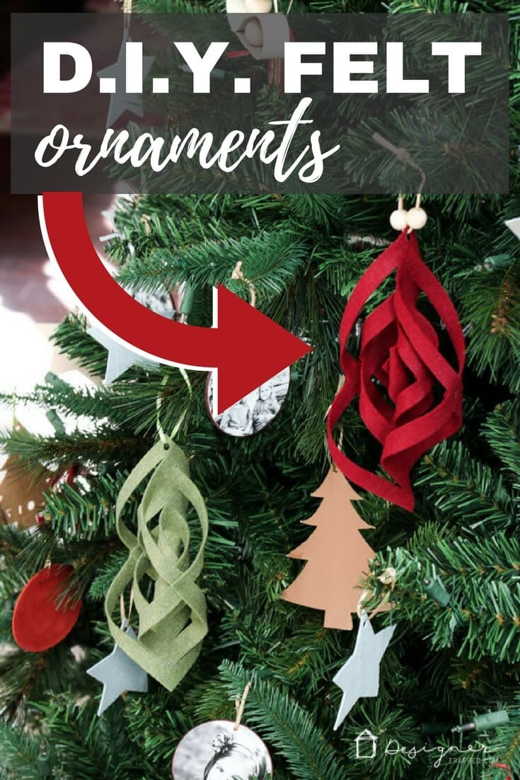 Unique Christmas ornaments aren't always easy to find, so sometimes it's better to make them yourself! These DIY felt ornaments are easy to make and are a stunning addition to any Christmas tree!