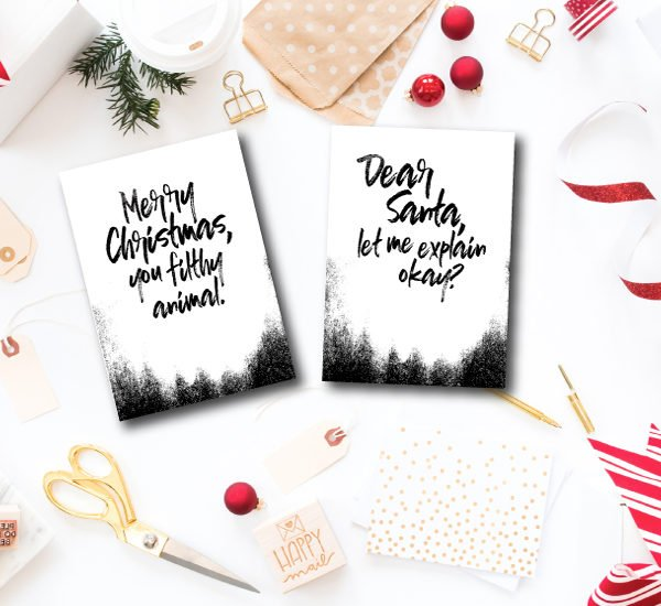 Funny and Free Printable Christmas Cards