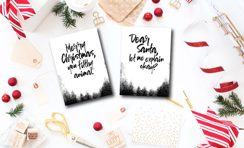The free printable Christmas cards are the perfect way to spread holiday cheer!