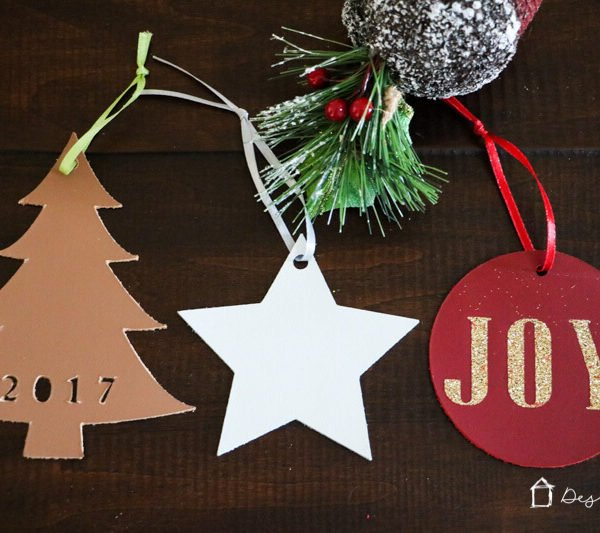 Handmade Christmas Ornaments from Leather