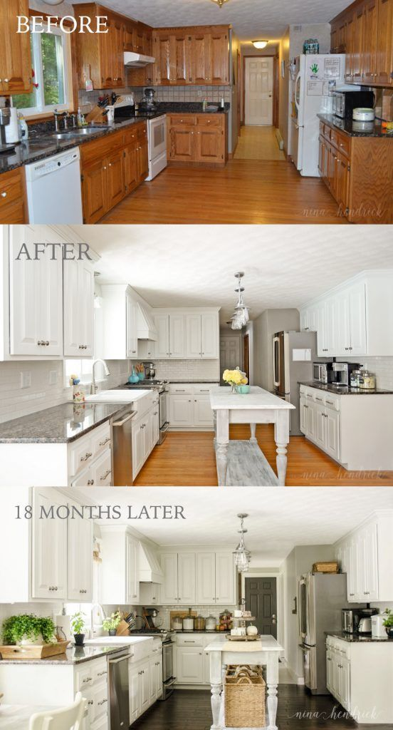 This is one of the most amazing kitchen cabinet transformations I have seen!