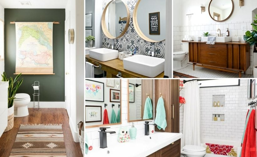 Bathroom makeovers can be daunting. Sometimes you just need a little bathroom renovation inspiration! These 13 amazing DIY bathrooms will get you ready to tackle your own project.