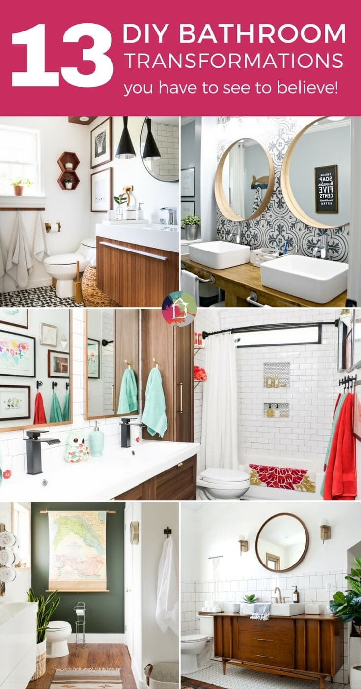 Bathroom makeovers can be daunting. But these amazing DIY bathrooms will inspire you to tackle your own DIY bathroom renovation!