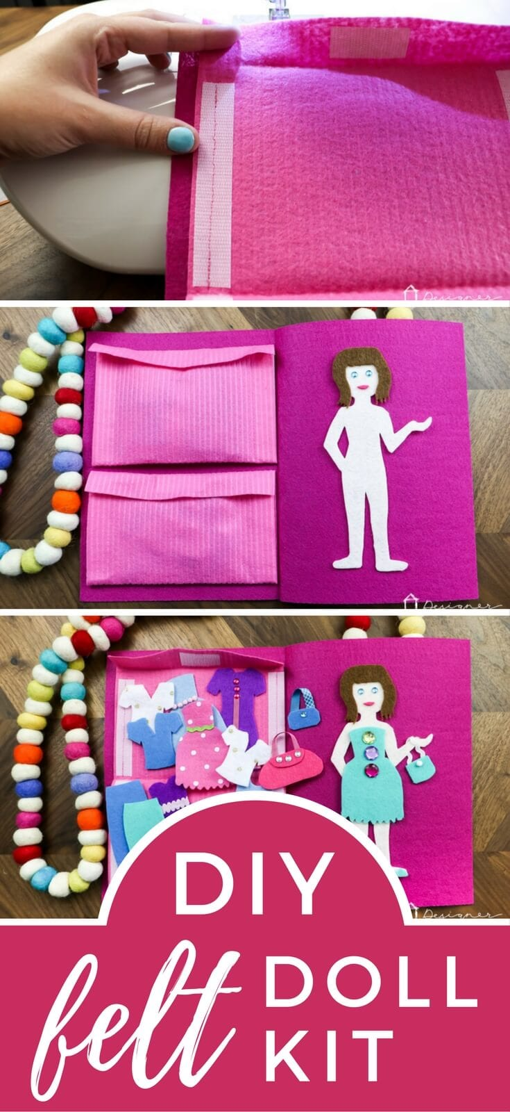 This DIY felt doll kit is fun to make and is a perfect quiet activity for any little girls in your life! Learn how to make your own DIY felt doll kit with this detailed tutorial.