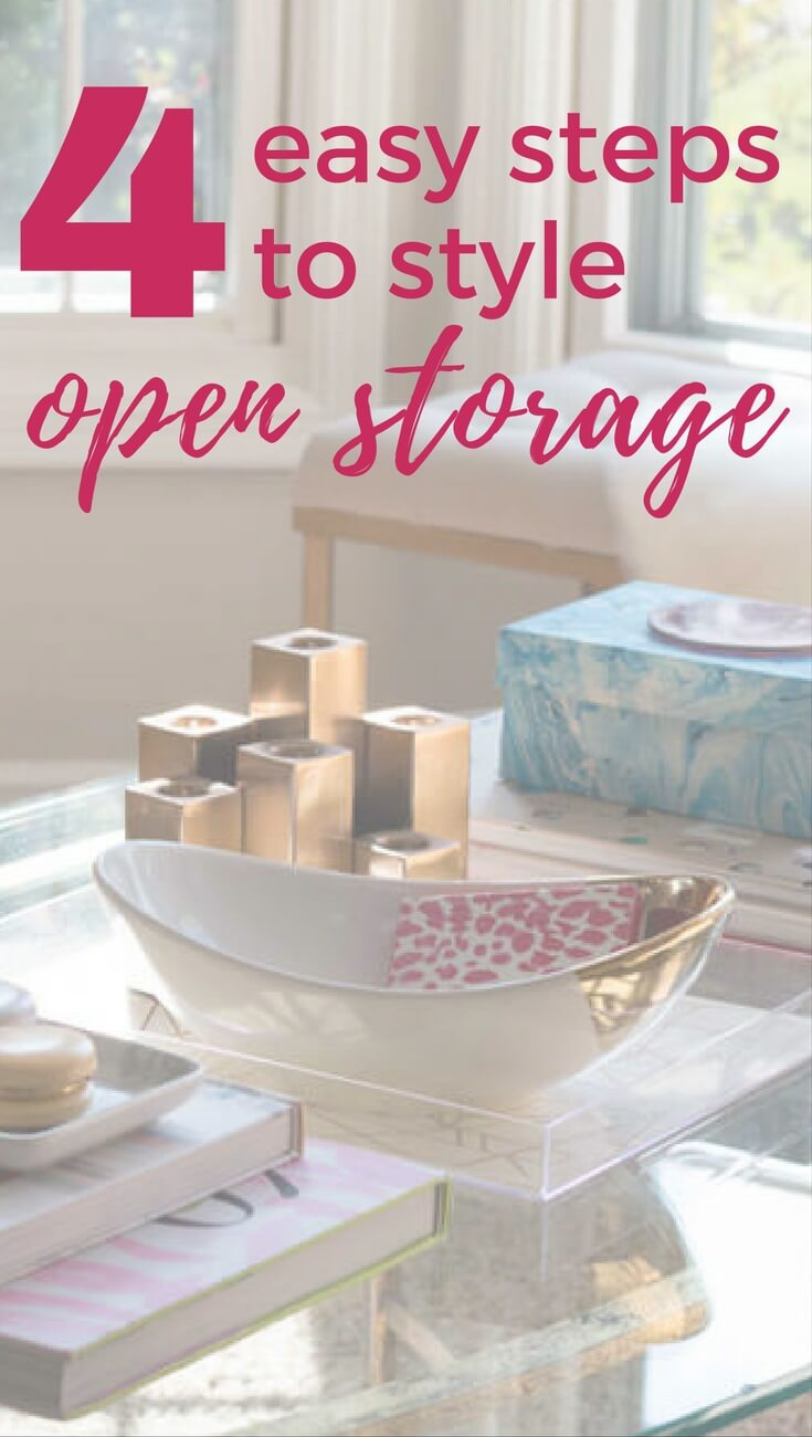 Open storage can be tricky to style. Follow these easy pro tips to achieve the beautiful look you see in magazines and on Pinterest!