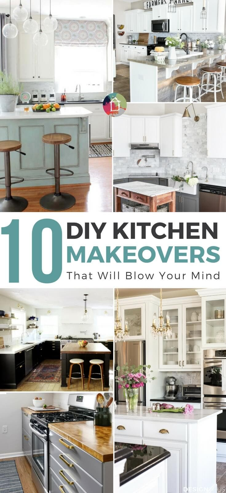 Looking for DIY kitchen makeover ideas? These 10 amazing DIY kitchen renovations will blow your mind and have you planning your new kitchen!