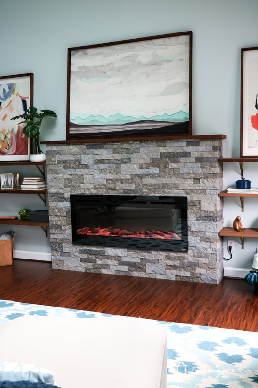 If you have ever wondered about whether Airstone is a good choice for a fireplace, checkout our Airstone fireplace reveal & a review of the product itself!