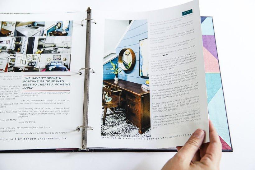 interior design online Designer in a Binder