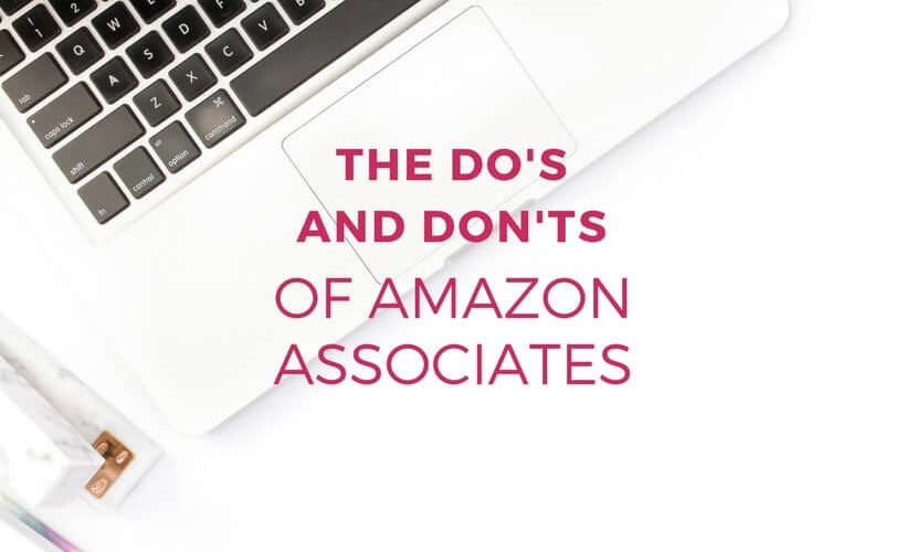 Amazon Associates can be incredibly powerful for any blogger's affiliate marketing efforts, but it's also confusing. So many rules! Learn the dos and don'ts of being an Amazon Associate in this post.