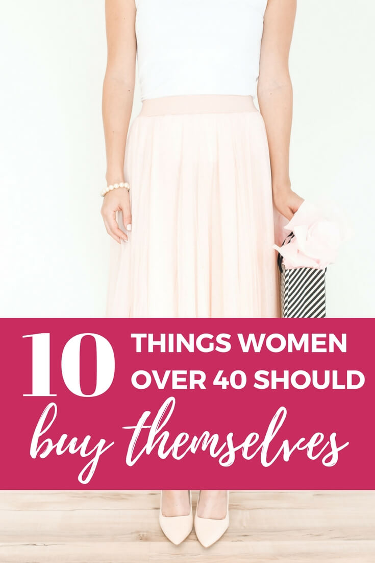 There are some things that women over 40 should buy for themselves! Now that I've celebrated my 40th birthday, I've compiled a list of the top 10 things I believe women over 40 should treat themselves to just because.