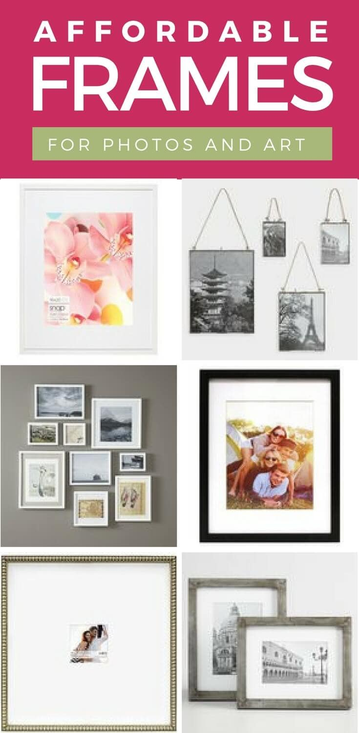 Affordable frames that are also stylish are not always easy to find. These amazing finds will look great and not break your decor budget! #affordableframes #affordabledecor #artframes #photoframes