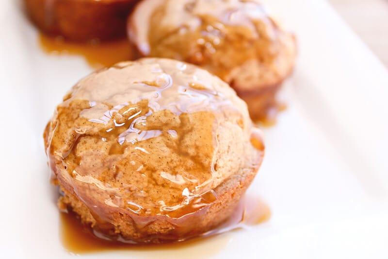caramel apple cinnamon muffins