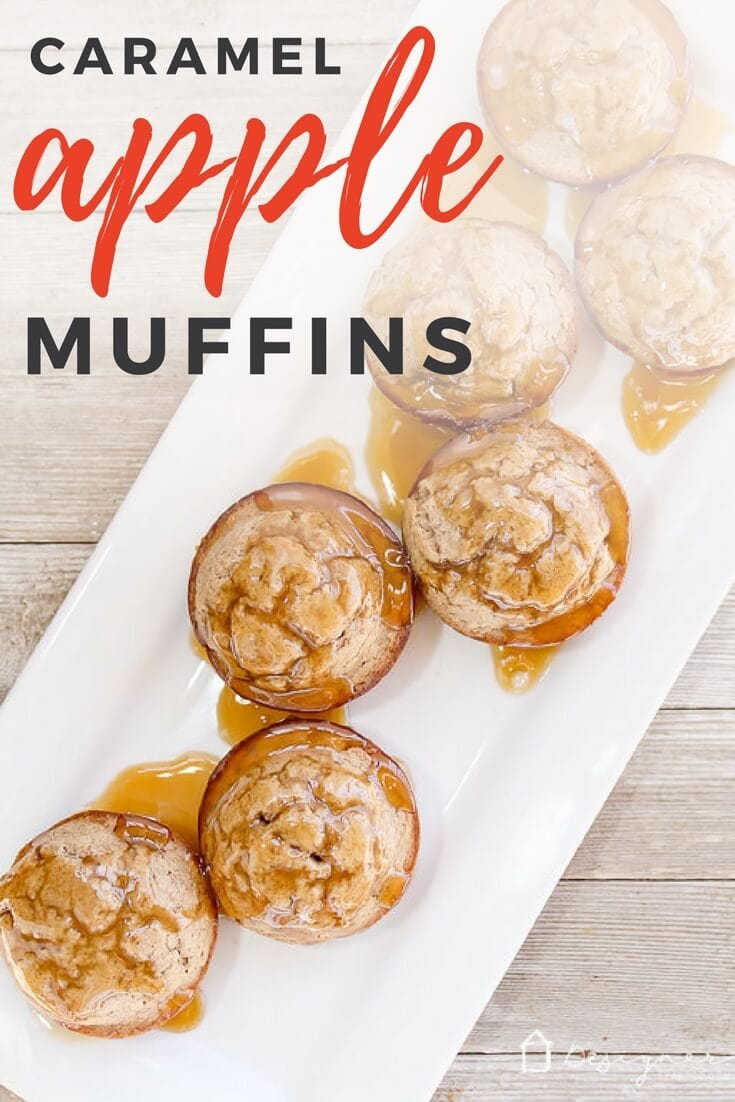 caramel apple cinnamon muffins