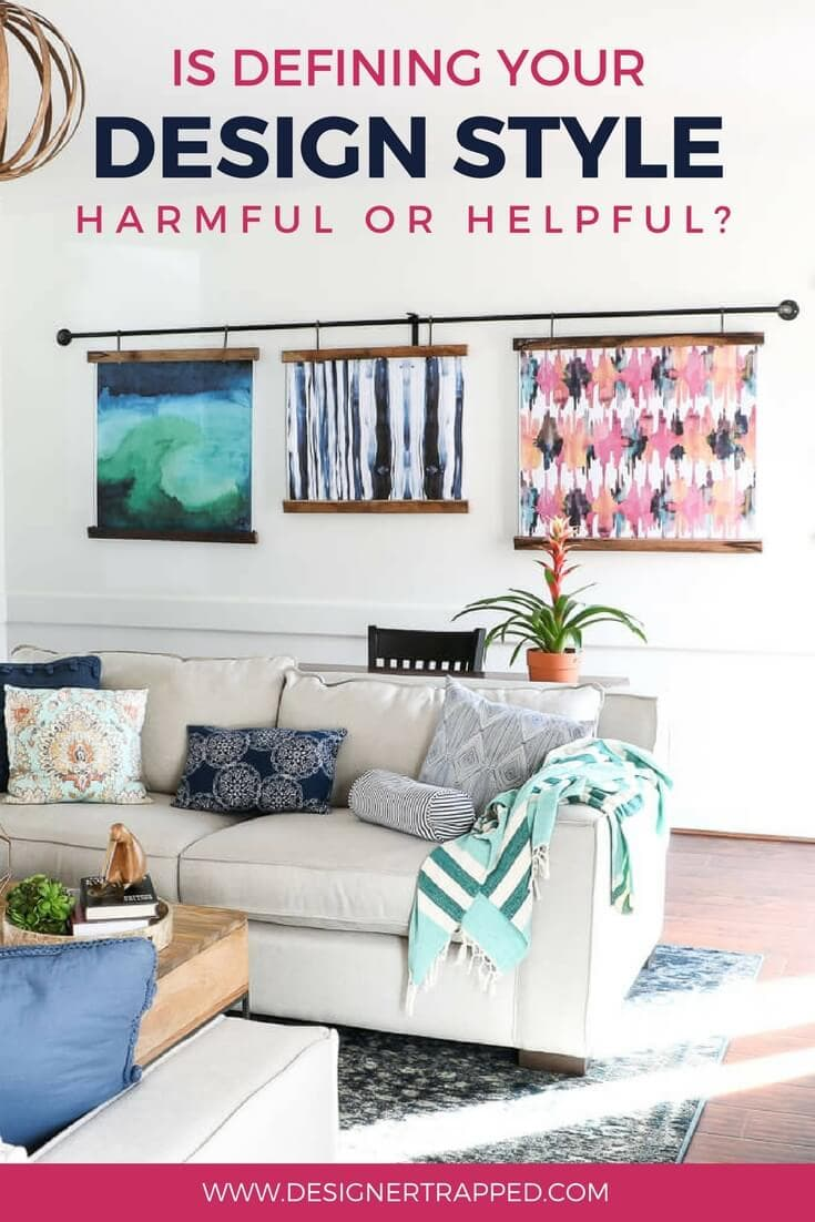 There are so many interior design styles out there. Wondering what your decorating style is? Should you even try to define your design style? Or is it more harmful than helpful? #decoratingstyles #interiordesignstyles