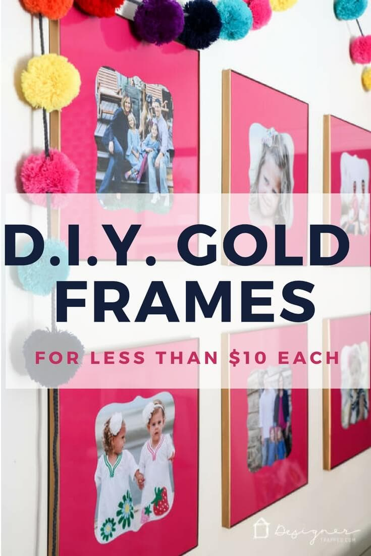 "Gold frames are very on trend right now, but even the ""affordable"" ones are pretty expensive! But with this easy tutorial you can make your own semi-DIY version on a tiny budget and they are gorgeous!"