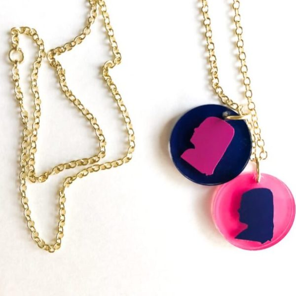 These adorable DIY silhouette necklaces are the perfect gift for any mom or grandmother. What a perfect way to feature the silhouette of your kids or grandkids. And they are so fun to make!
