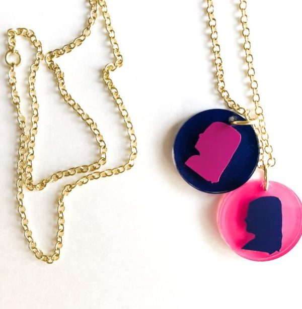 DIY Silhouette Necklaces