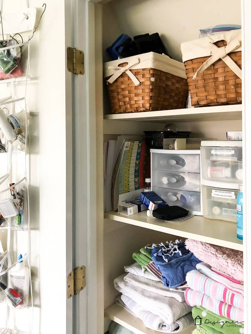 Our linen closet is more of a problem than it is helpful. No more! Check out our linen closet solutions and plans.