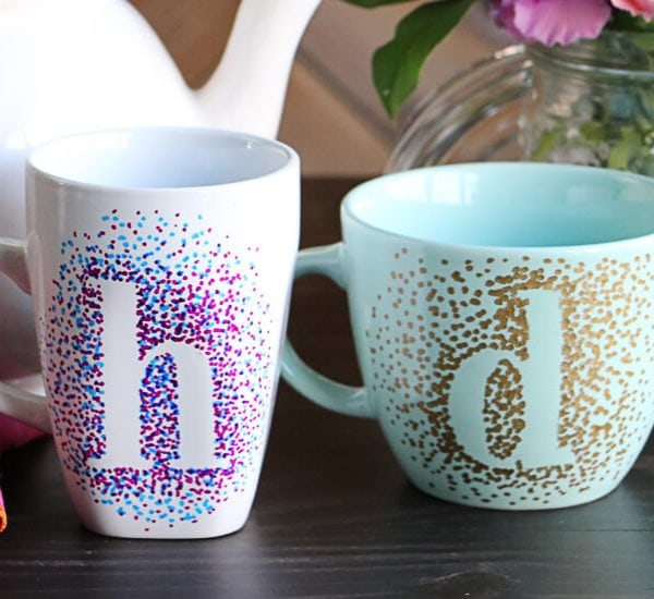 dotted sharpie mugs