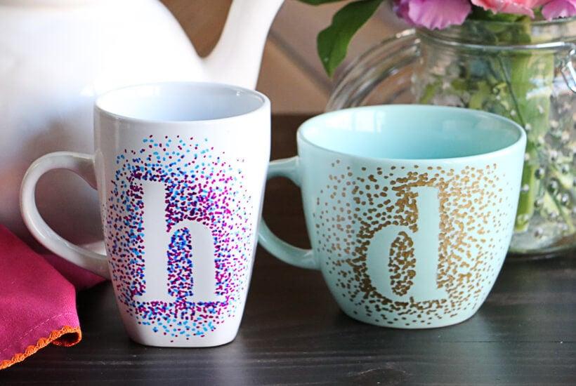 dotted sharpie mugs