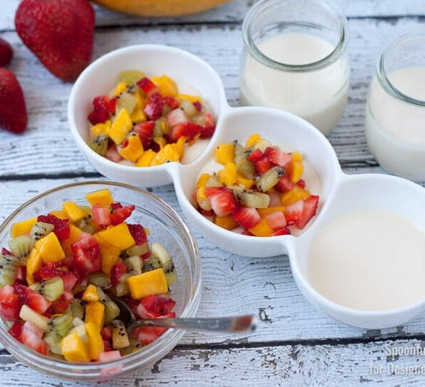 Creamy Panna Cotta with Fresh Fruit