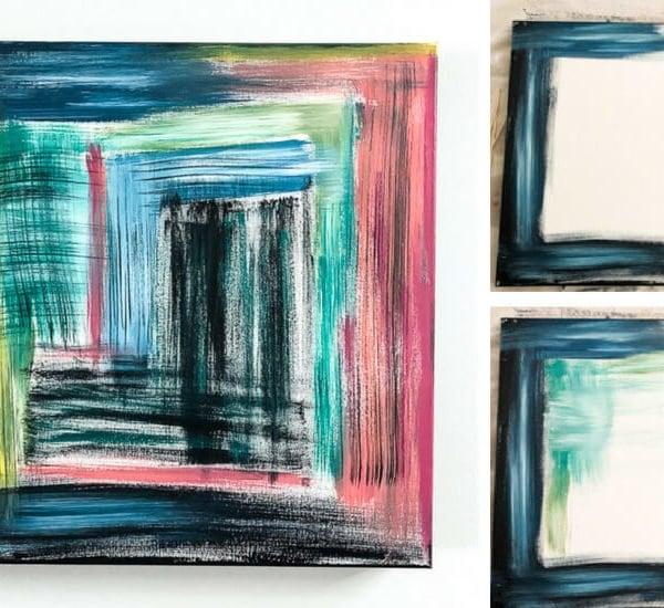 DIY Abstract Canvas Art That Anyone Can Make