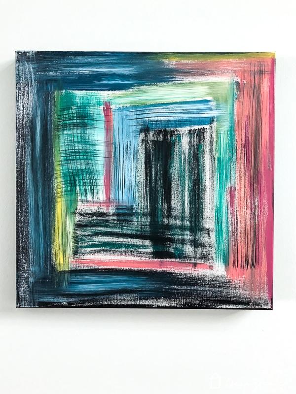 diy abstract canvas art