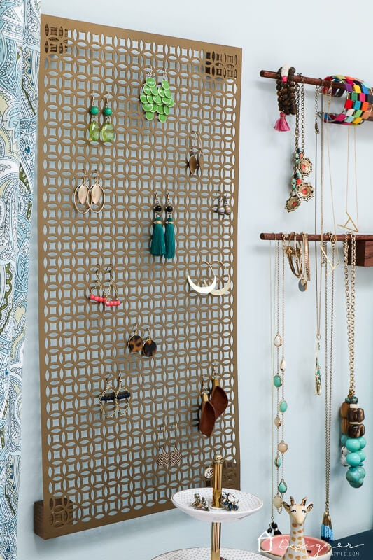 jewelry organization hanging