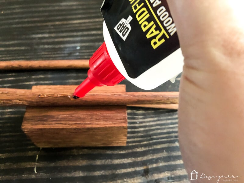 DAP rapid fuse gluing wood dowel