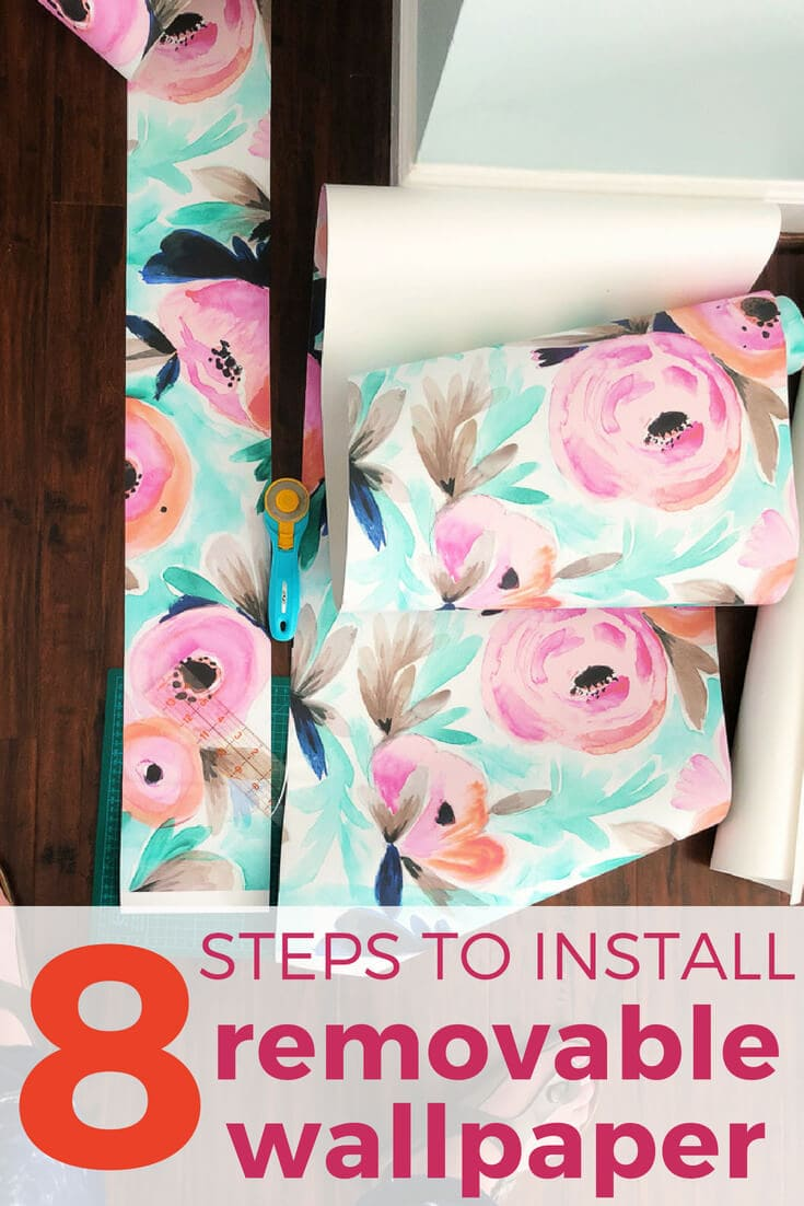 how to install removable wallpaper
