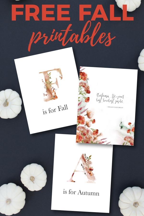 free fall printables