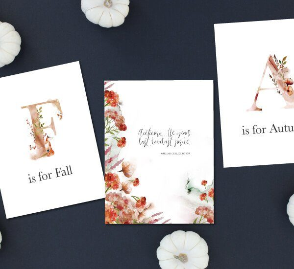 Gorgeous FREE Fall Printables for 2018