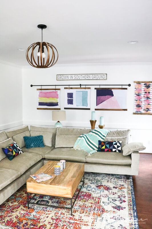 West Elm Harmony sectional in family room