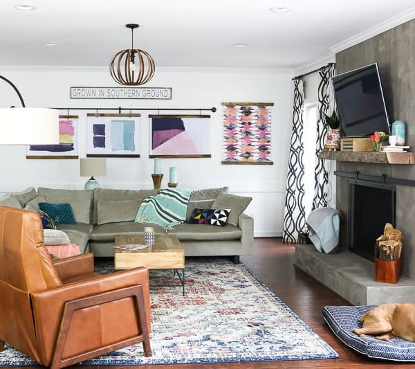 Colorful Family Room Updates