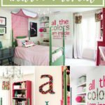 colorful girl's bedroom