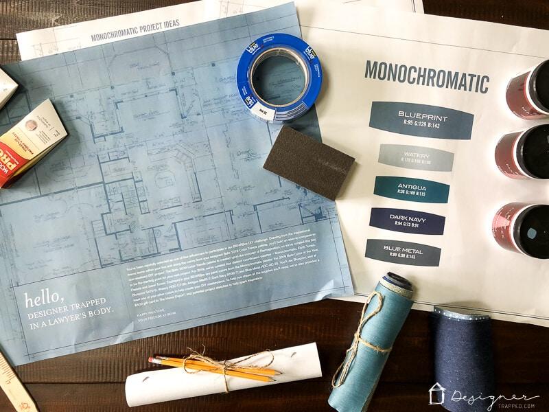 Behr blueprint monochromatic color palette