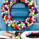 DIY felt ball wreath