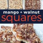 mango walnut squares