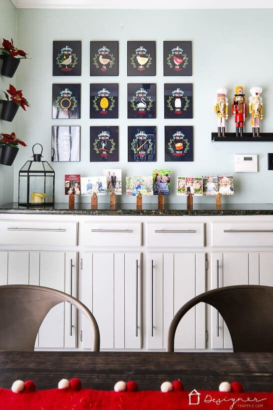 colorful Christmas decor in kitchen