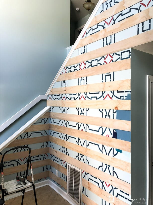 modern plank wall installation