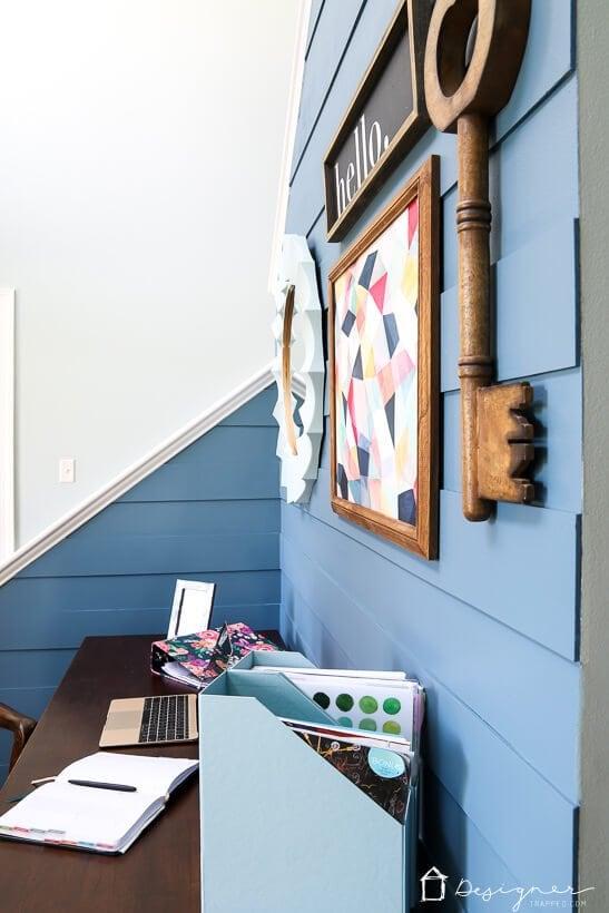 diy modern plank wall Blueprint by Behr