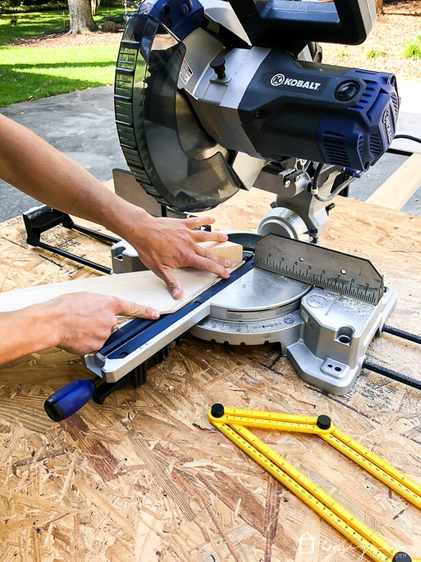 compound miter saw cutting angle
