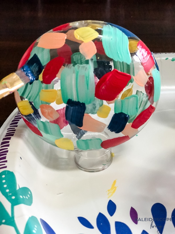 Diy Hand Painted Christmas Ornaments Kaleidoscope Living