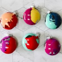 Colorful & Easy DIY Christmas Ornaments