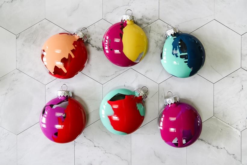 colorful DIY Christmas ornaments